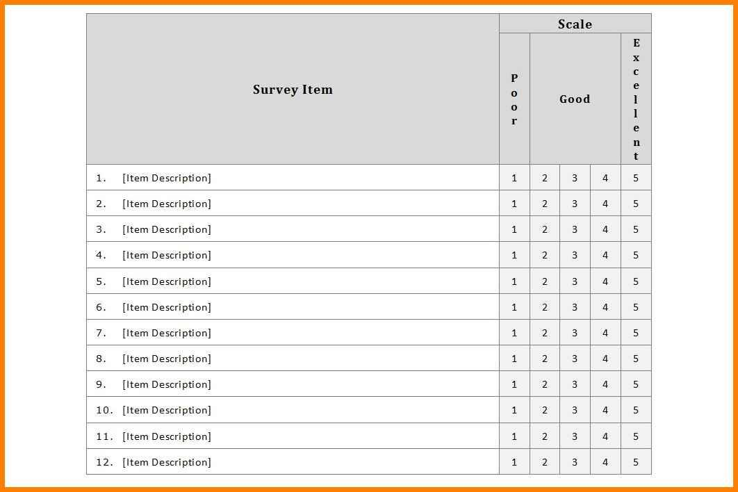 Editable Survey Template