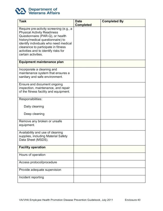 Electrical Equipment Risk Assessment Template