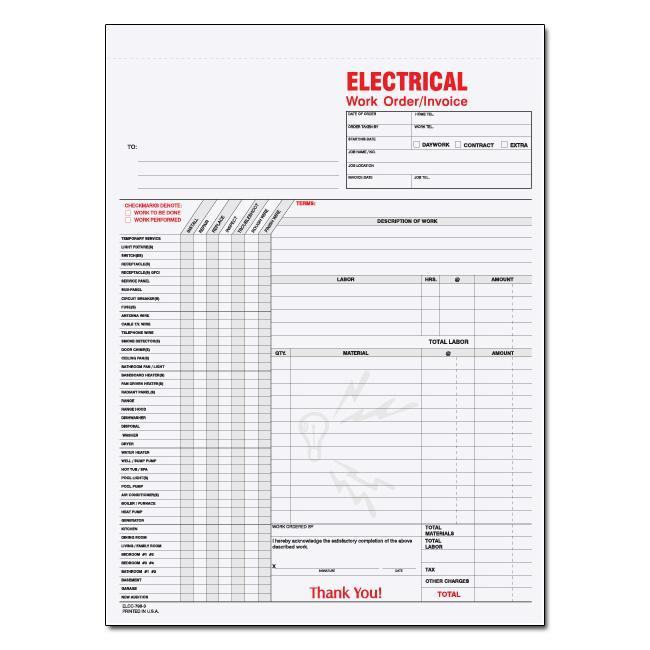 Electrical Invoice Forms