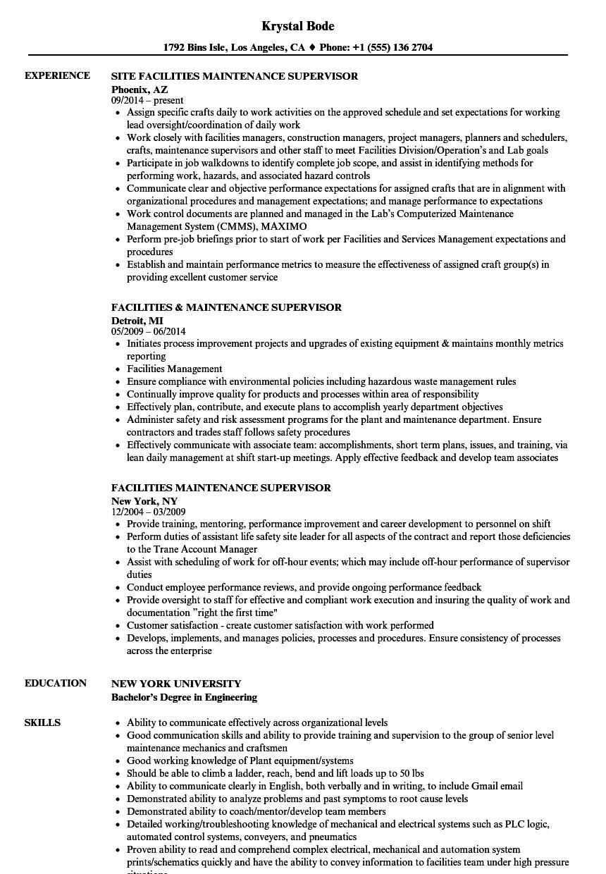 Electrical Supervisor Resume Template - Templates #65863 ...