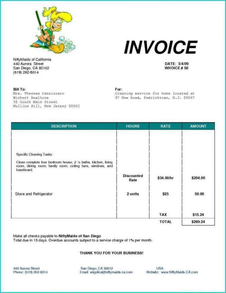 Electrician Invoice Template Uk