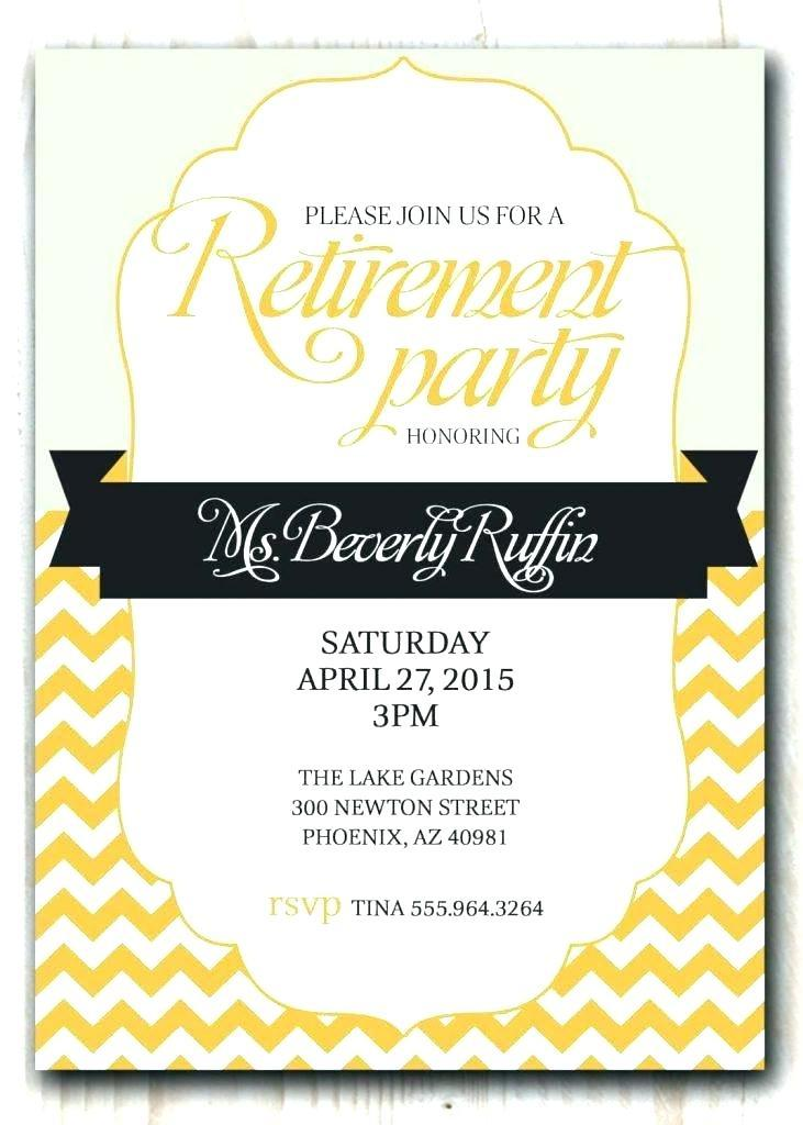 Electronic Retirement Invitation Template