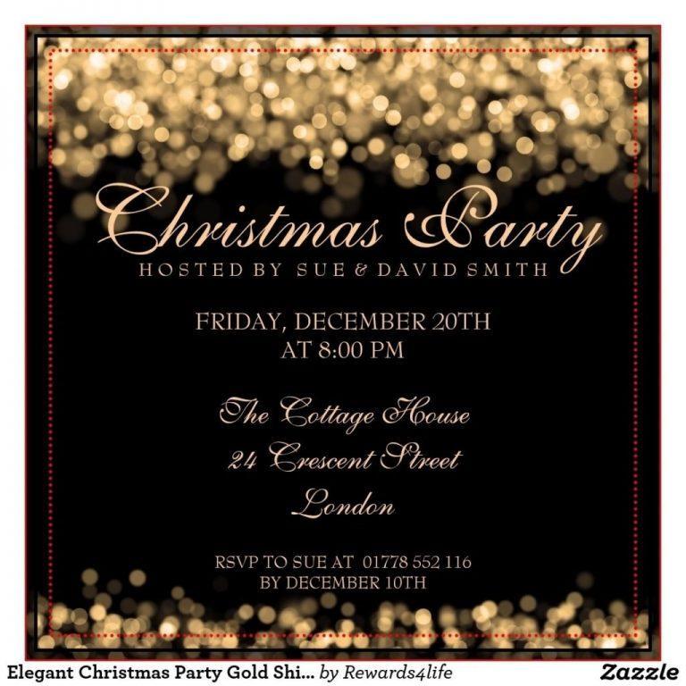 Elegant Christmas Party Invitation Template Free