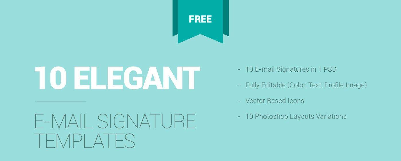 Email Signature Templates Free Psd