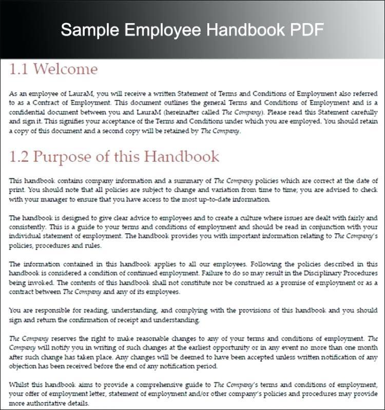 Employee Handbook Examples