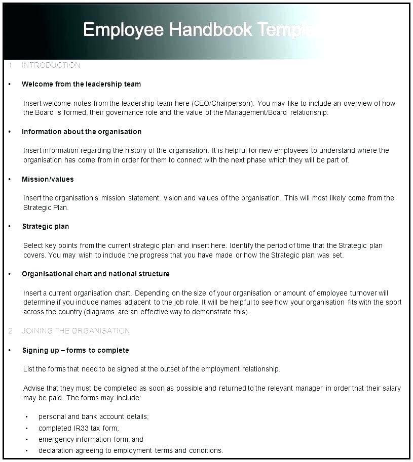 Employee Handbook Sample India