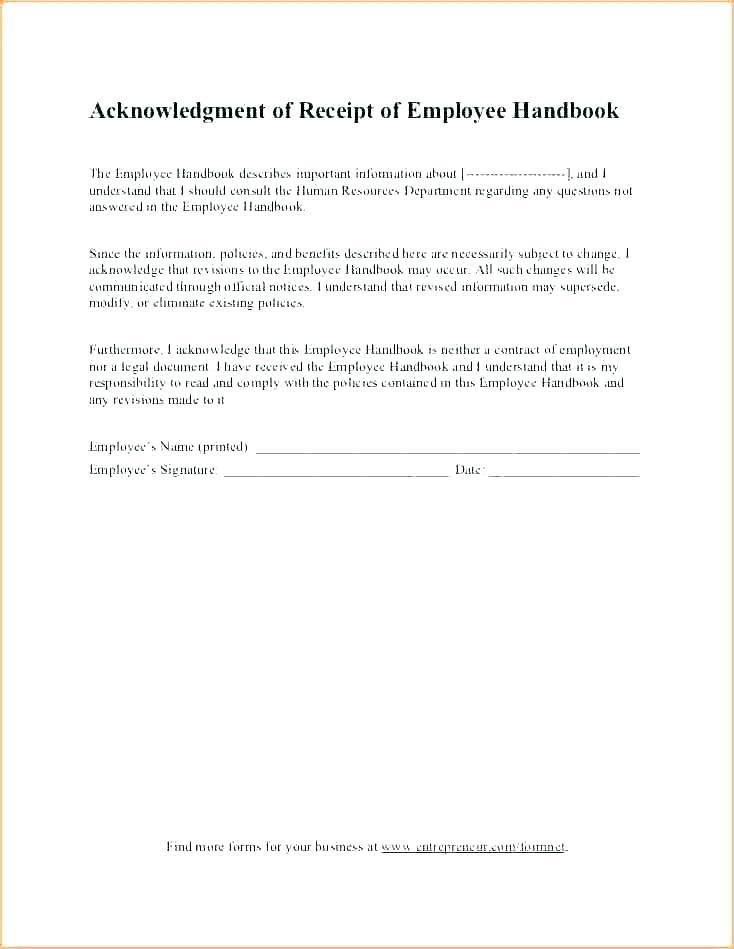 Employee Handbook Template Download