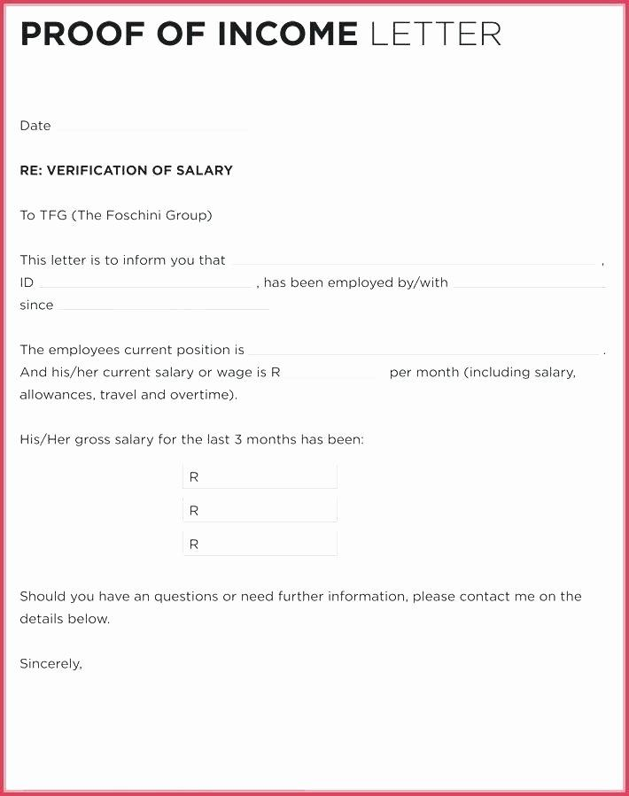 Employee Salary Verification Letter Template