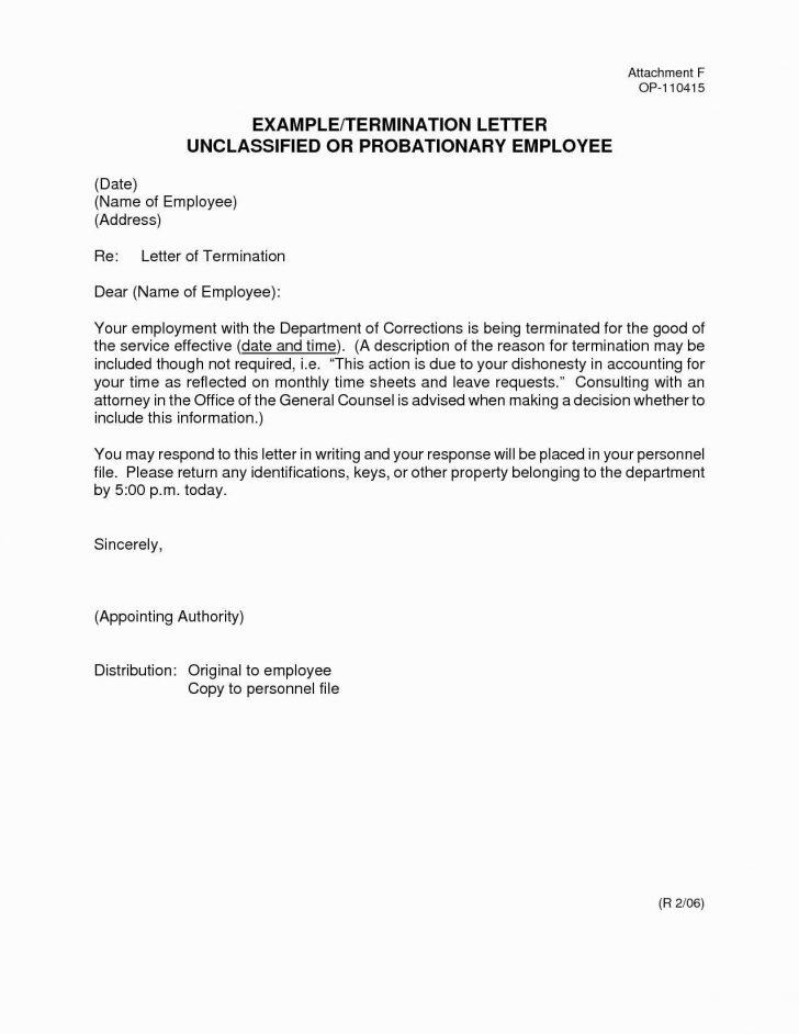 Employee Separation Letter Template