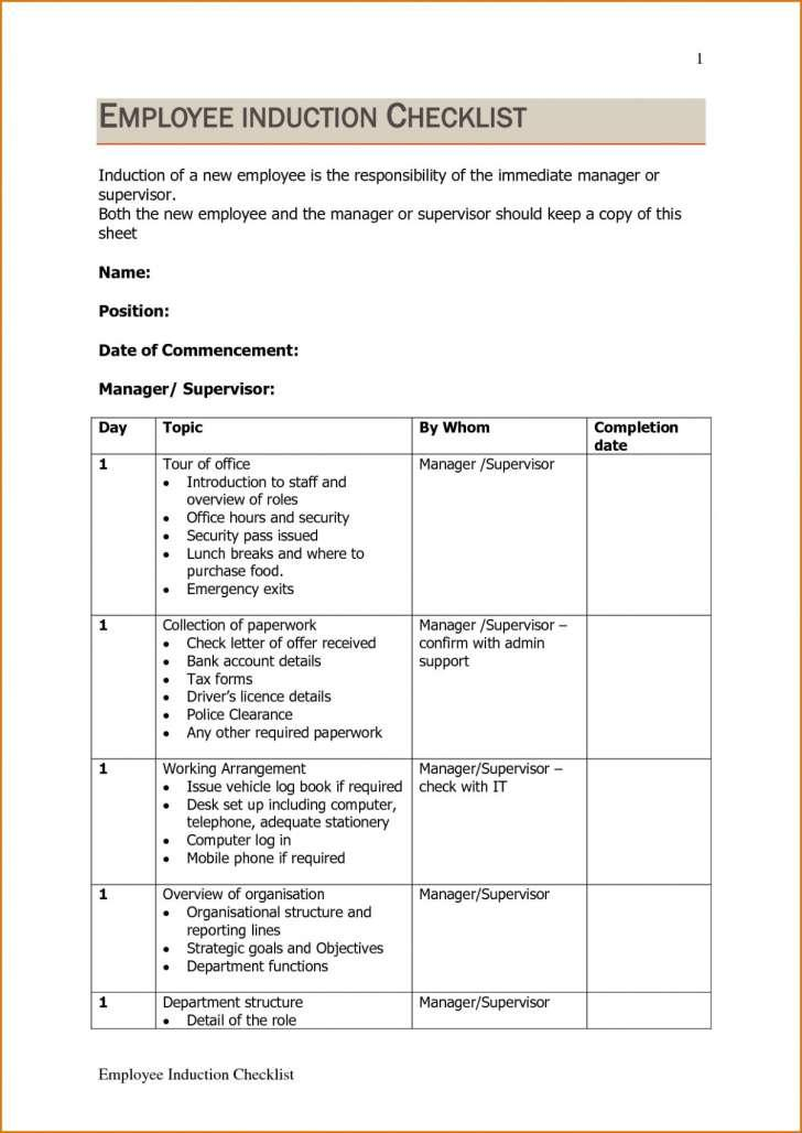 Employee Training Manual Template Free