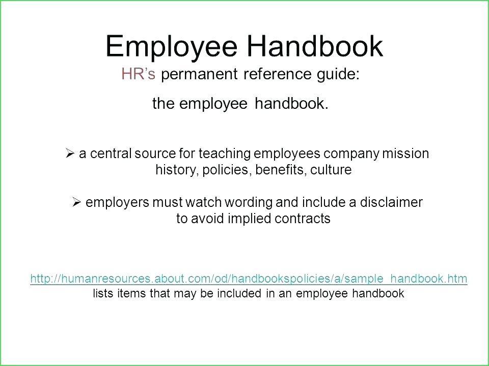 Employment Handbook Template