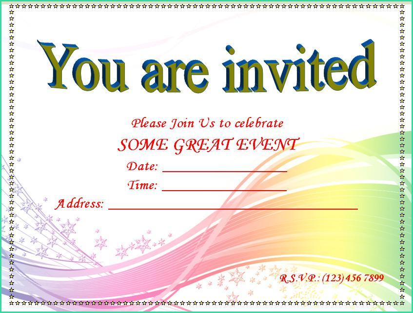 Word Engagement Invitations Templates