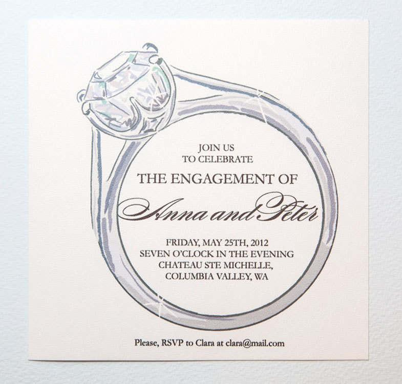 Engagement Invitation Templates With Photo