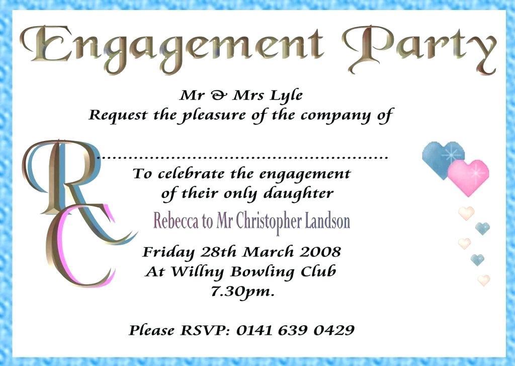 Engagement Party Invitation Maker