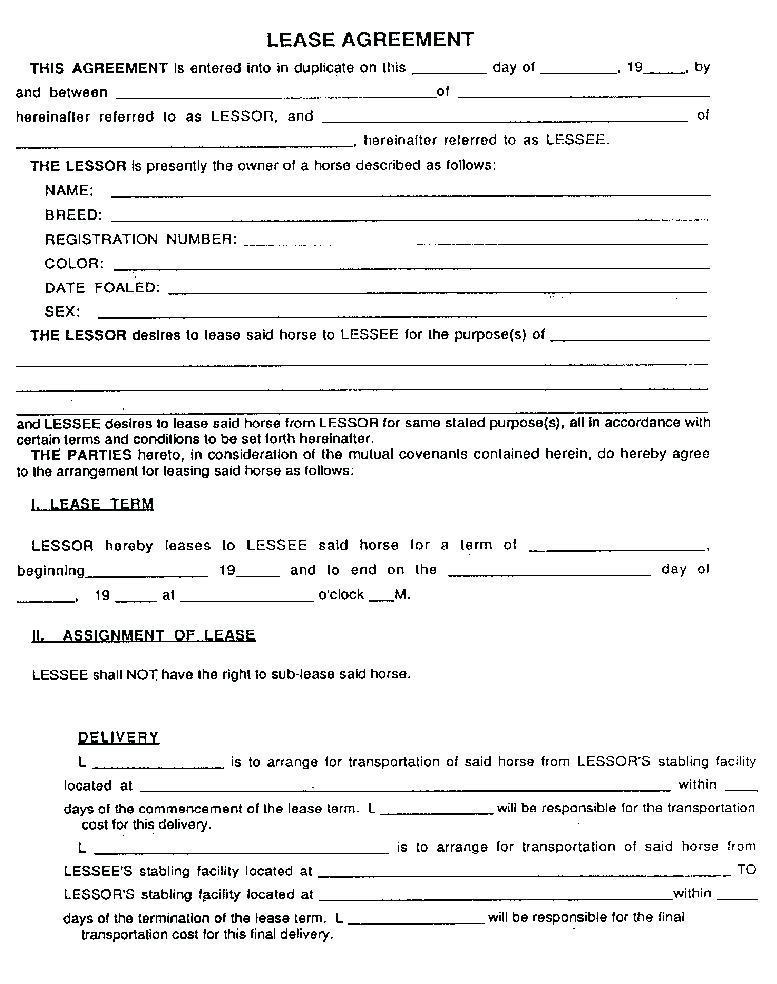 Equipment Rental Contract Samples