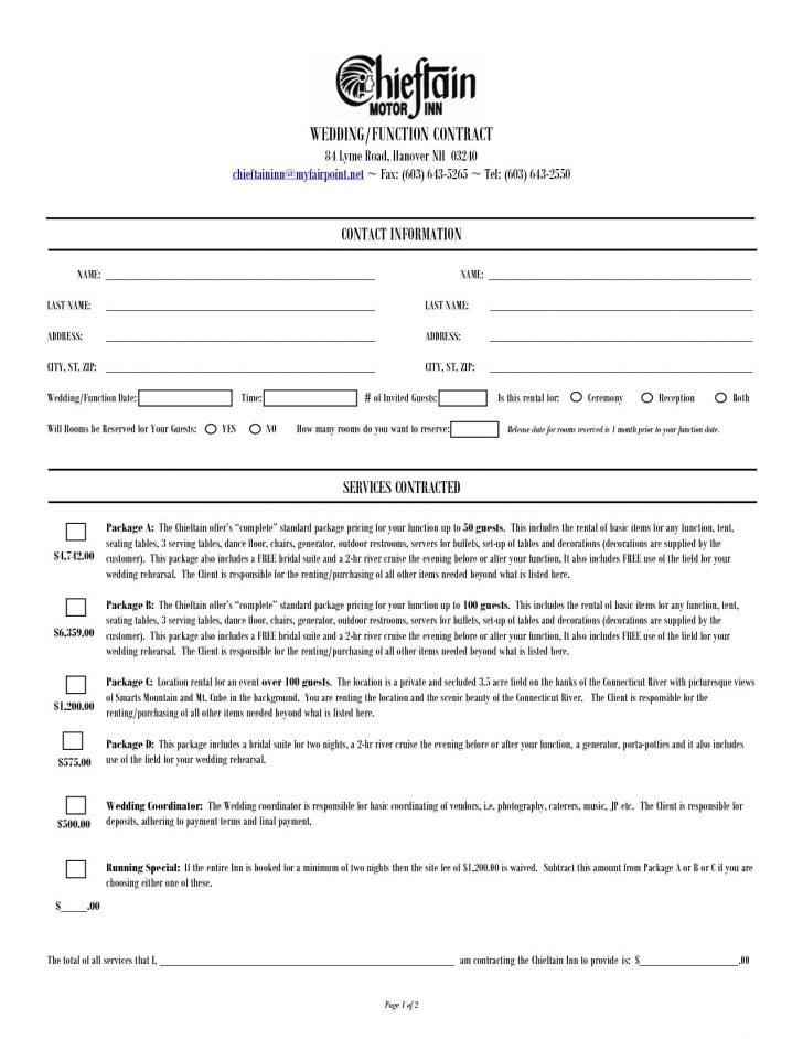 Event Planner Contract Samples