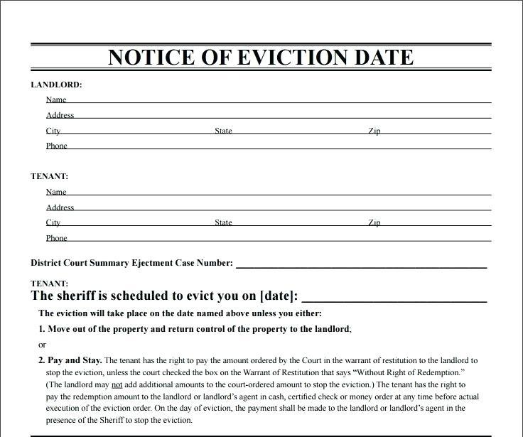 Eviction Notice Template Ny - Templates #57269 | Resume Examples