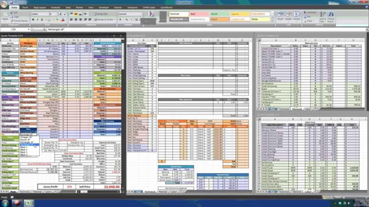 Excel Construction Estimate Template Download