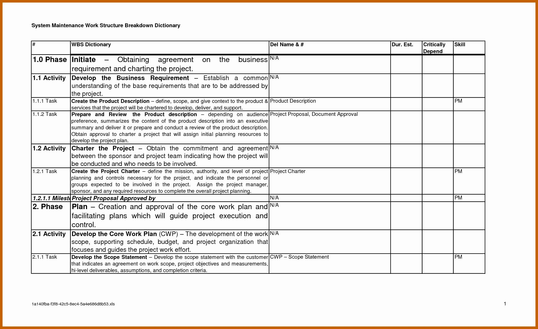 Excel Cost Proposal Template