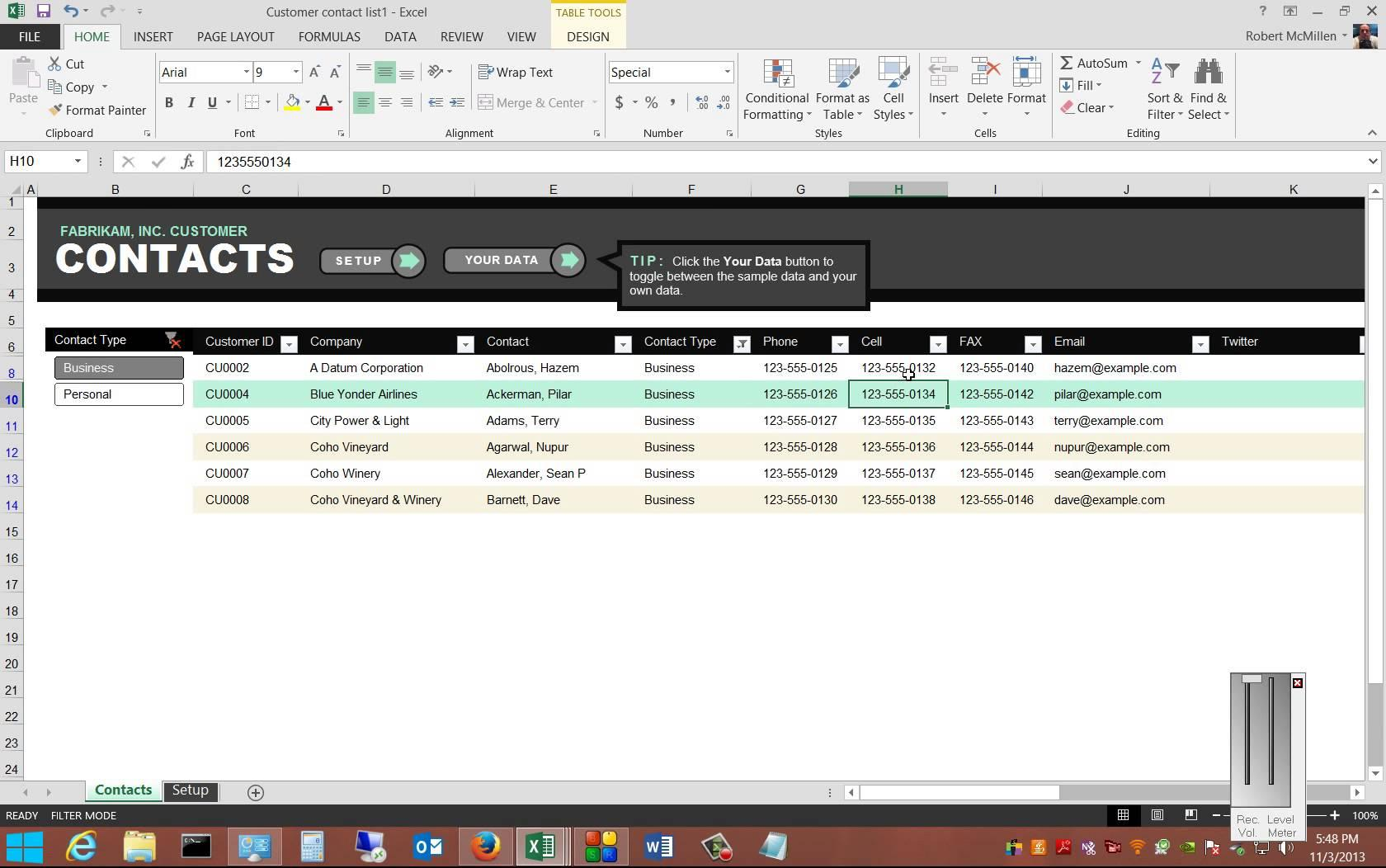 Excel Database Templates Free