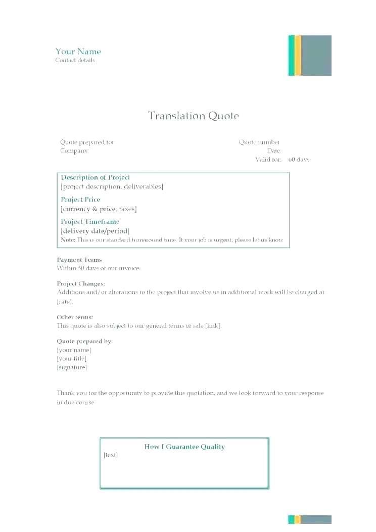 Excel Job Quote Templates