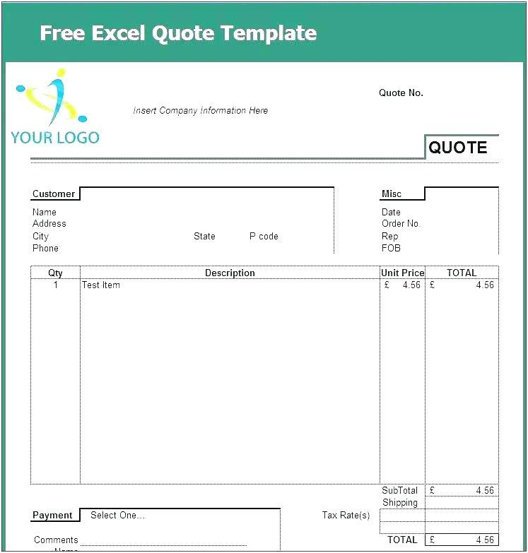Excel Quote Template South Africa