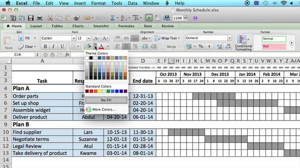 Excel Spreadsheet Work Schedule Template