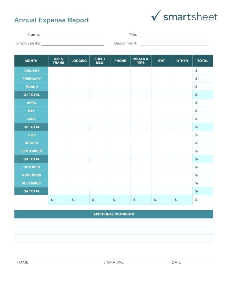 Excel Template Travel Expense Report
