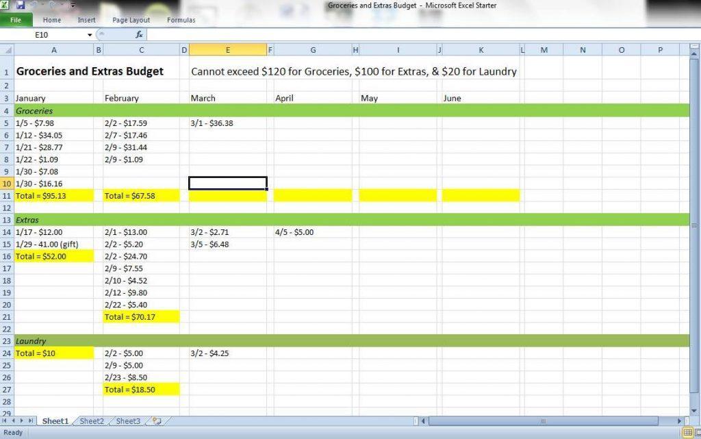 Expense Tracker Template Pdf