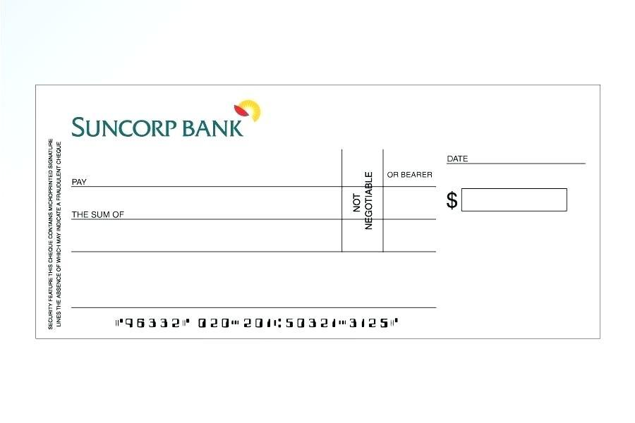 Fake Checks Template