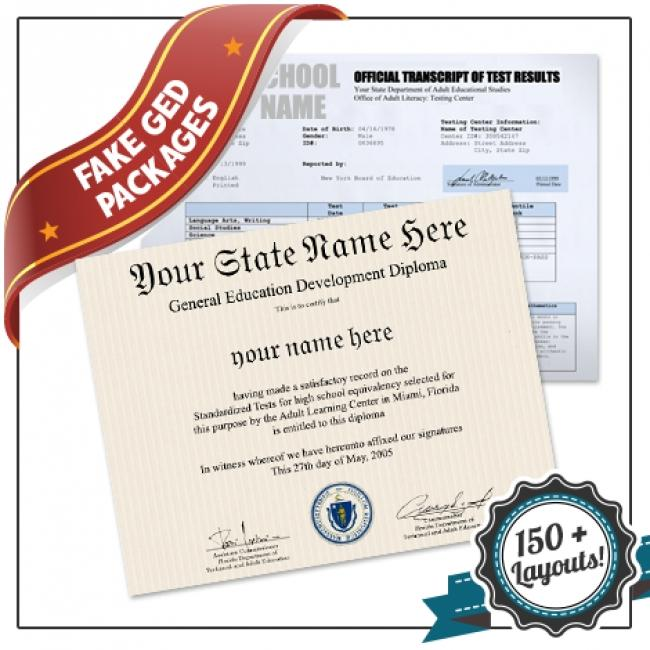Fake Ged Diploma Template
