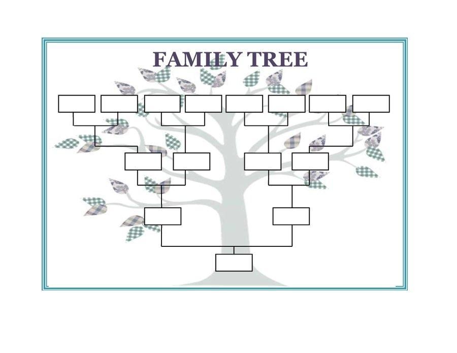 Family Tree Templates Editable Free