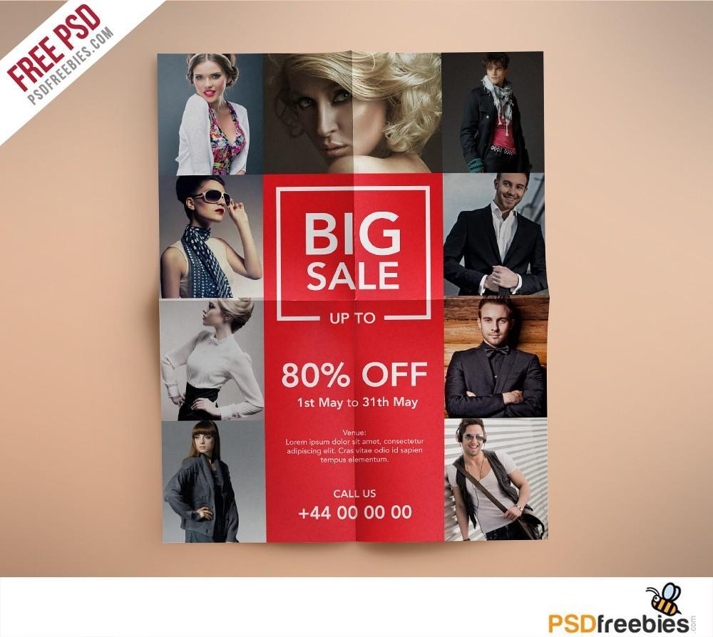 Fashion Design Flyer Template Free