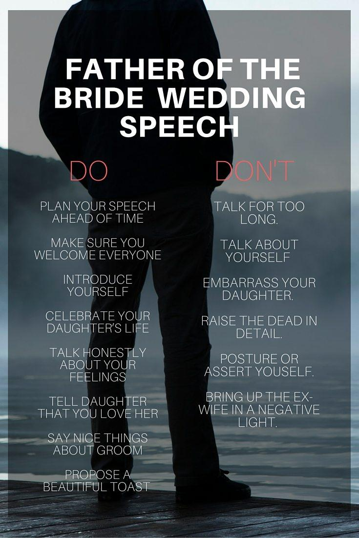 Father Of The Bride Speech Template Uk