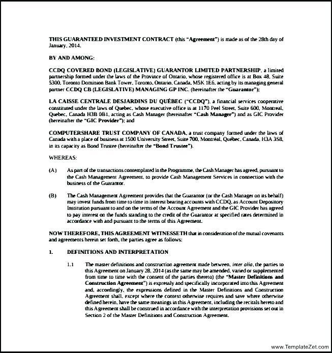 Film Investor Contract Template