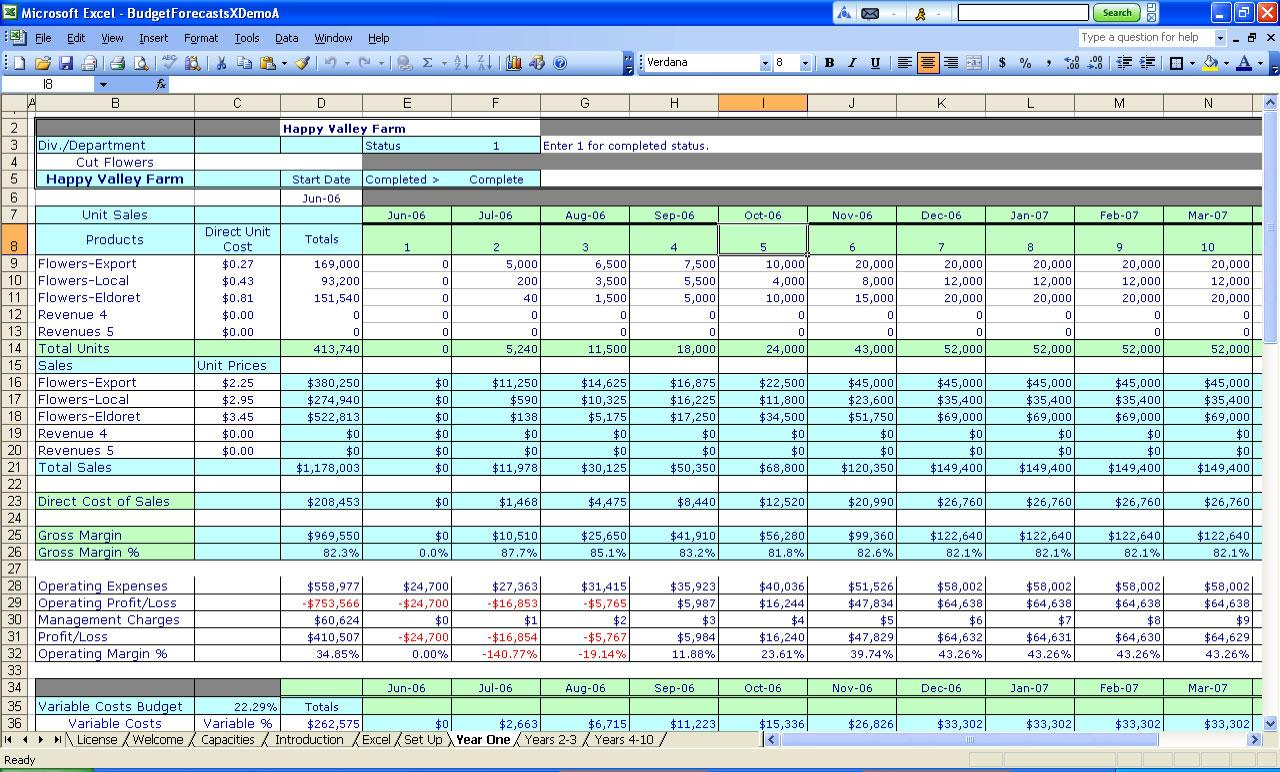 Financial Spreadsheet Template Excel