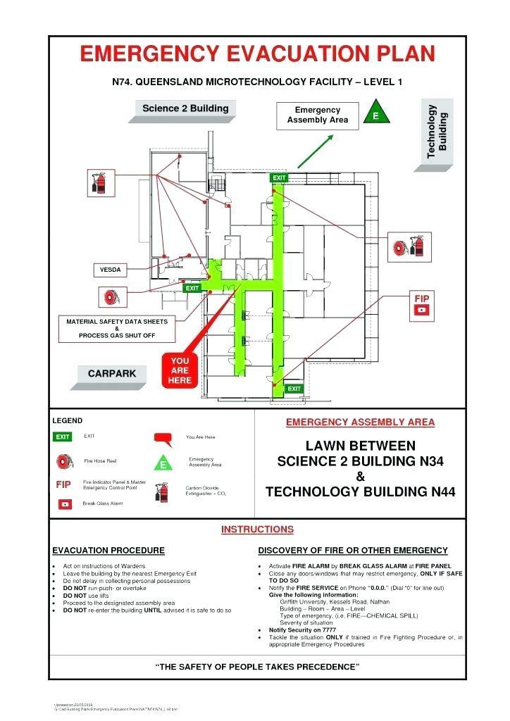 Fire Emergency Evacuation Plan Template Uk
