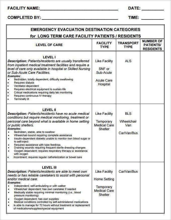 Fire Evacuation Plan Template Doc