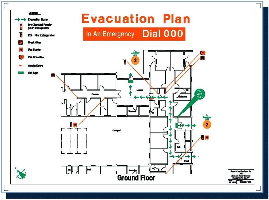 Fire Evacuation Plan Template Qld