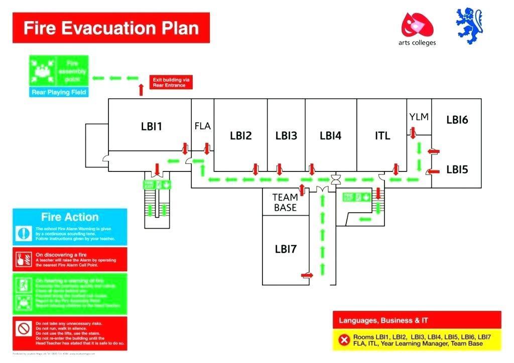 Fire Evacuation Plan Template Uk