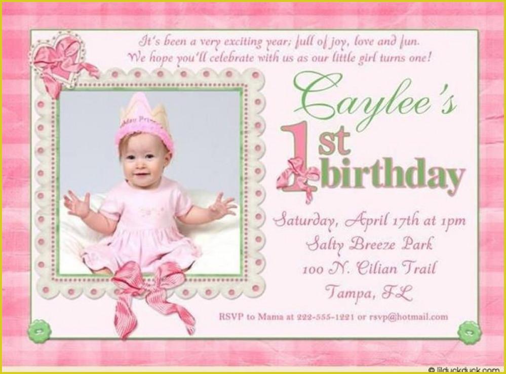 First Birthday Templates Invitations