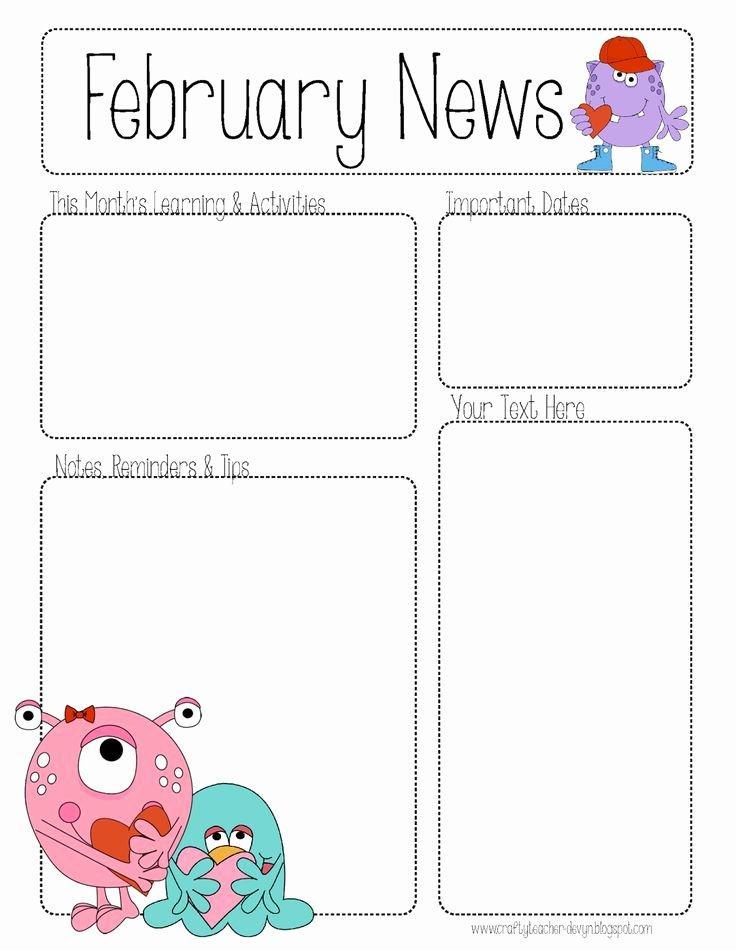 First Grade Newsletter Templates