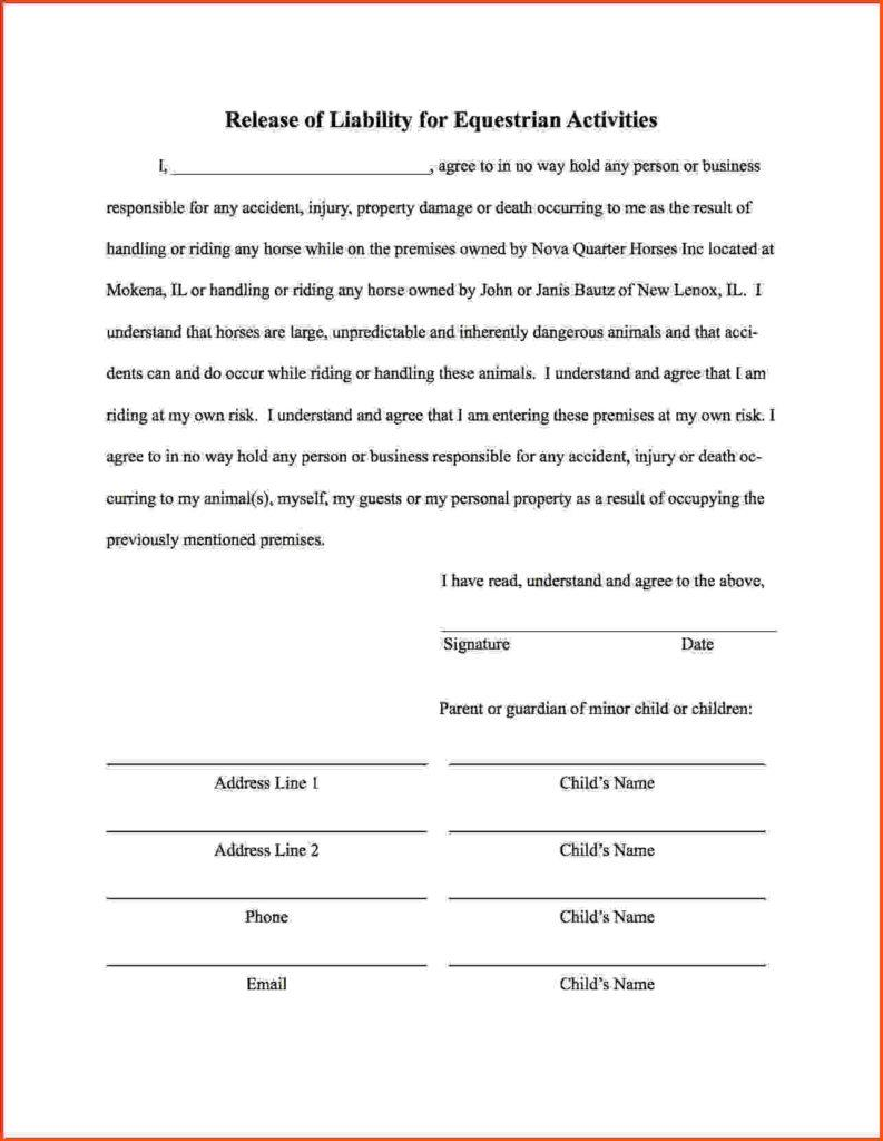 Fitness Waiver Template