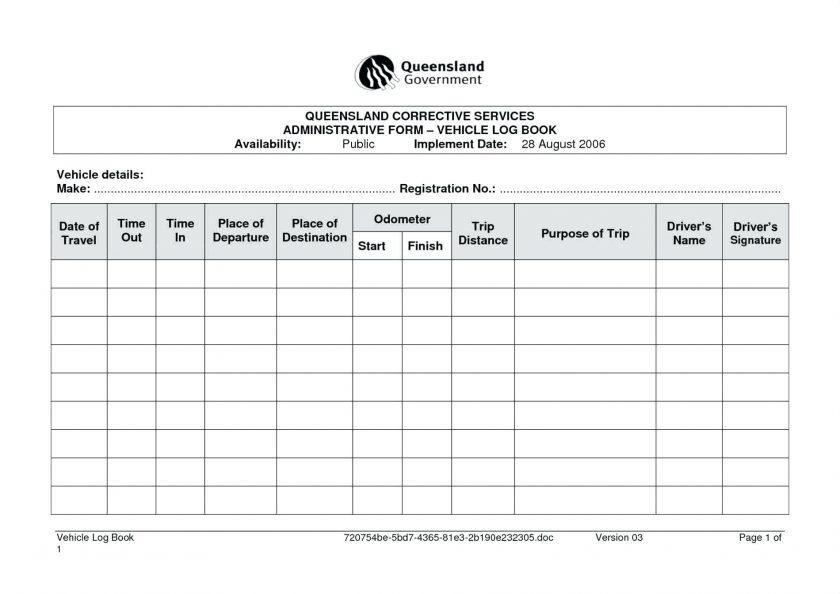 Fleet Vehicle Maintenance Log Template Excel