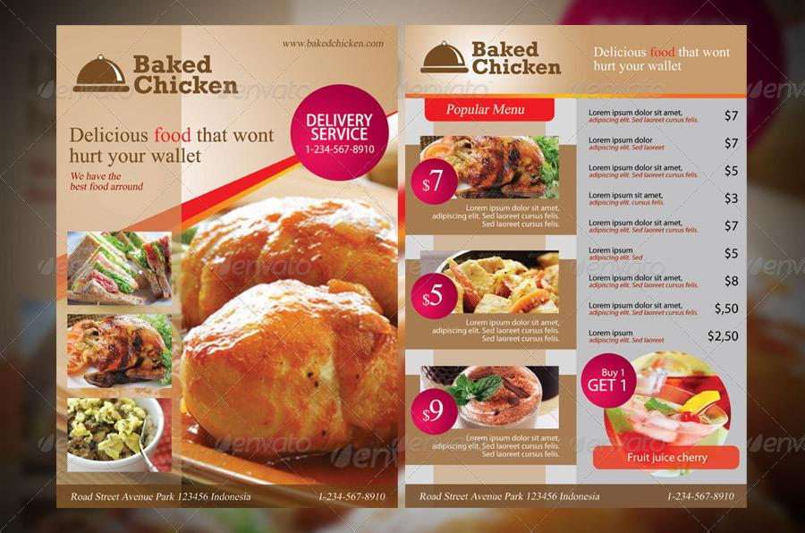 Food Catering Brochure Templates