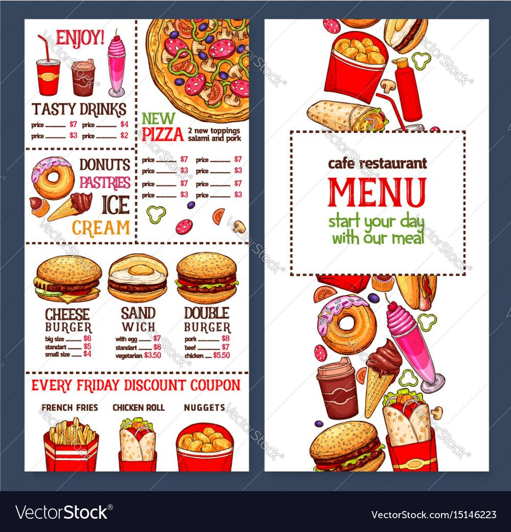 Food Menu Template Free Vector