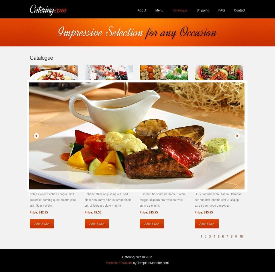Food Websites Templates Free