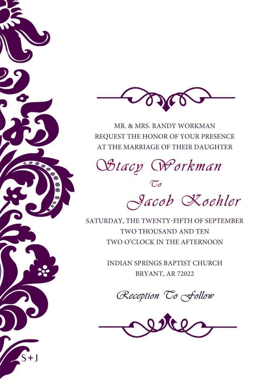 Formal Invitation Templates Free Download