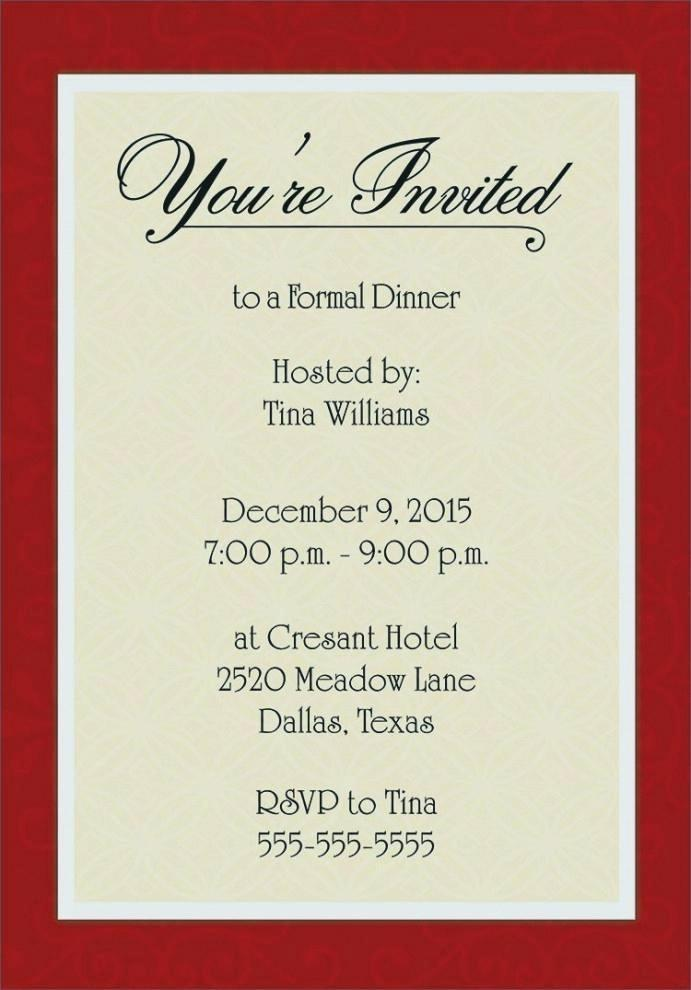 Formal Party Invitation Template Free