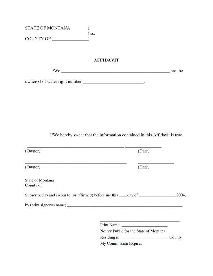 Free Affidavit Template Australia